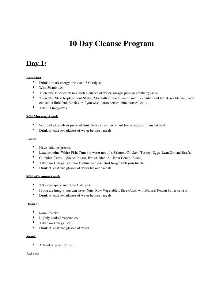advocare 10 day cleanse instructions 1 728