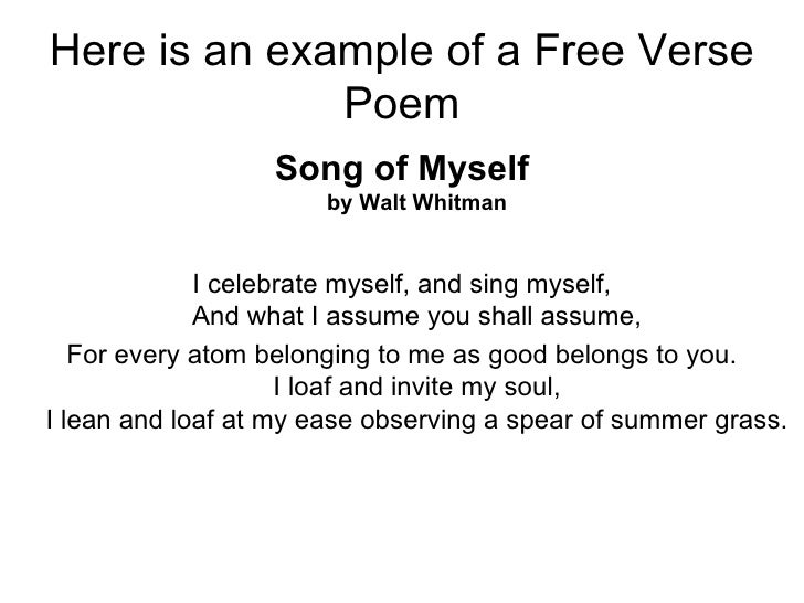 Examples Of Free Verse Poems 5