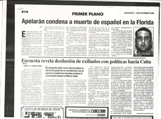 Apelarán condena a muerte de español en la Florida