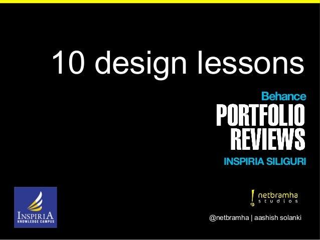 10 design lessons @netbramha | aashish solanki INSPIRIA SILIGURI