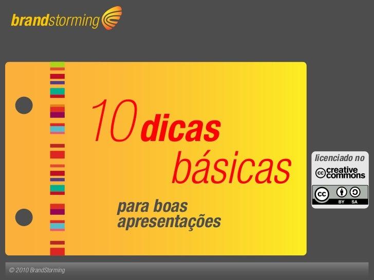 brandstorming                            10 dicas                                básicas   Contato no                     ...