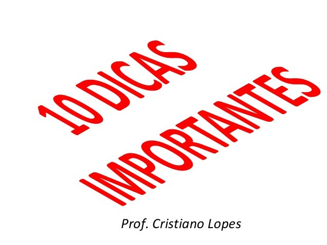 Prof. Cristiano Lopes