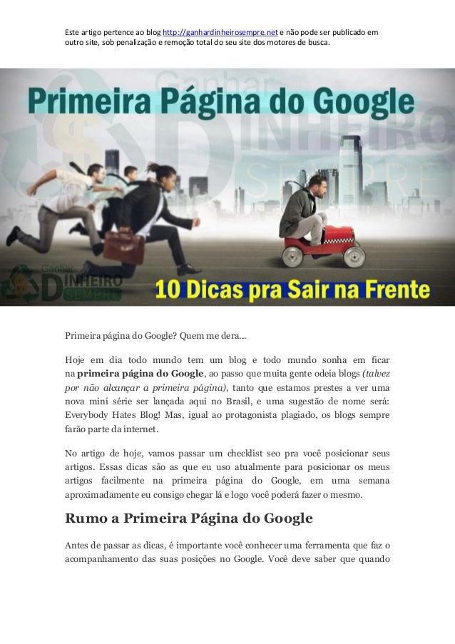 Este artigo pertence ao blog http://ganhardinheirosempre.net e não pode ser publicado em outro site, sob penalização e rem...