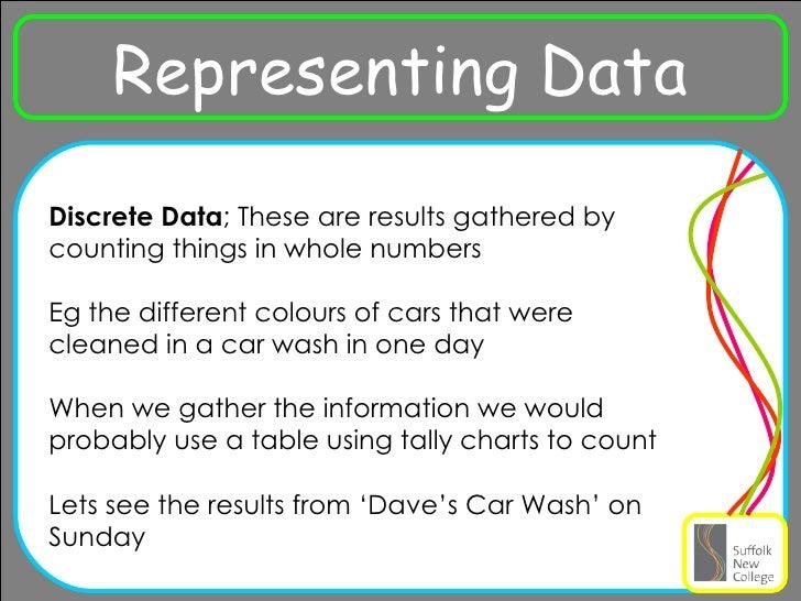 discrete and continuous data