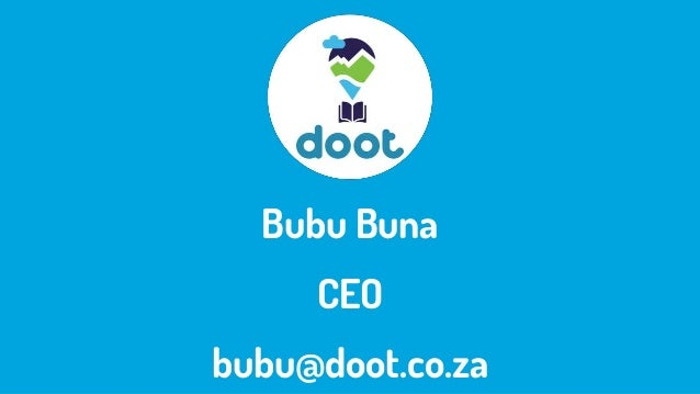 Bubu Buna CEO bubu@doot.co.za