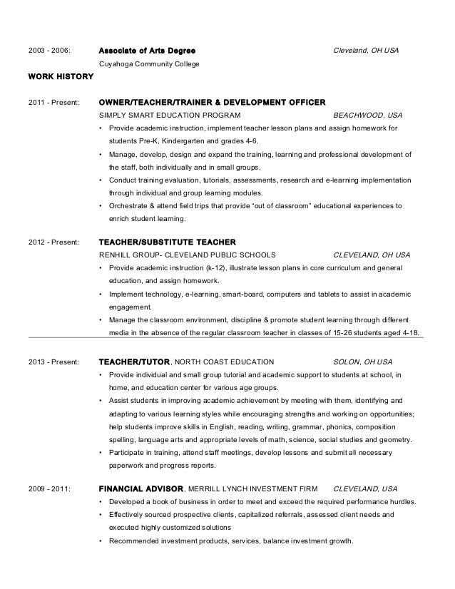 ... Finance Ashford University; 3.  Master Resume Template