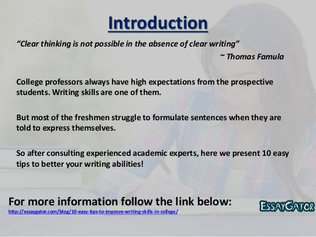 improving the writing skills of college