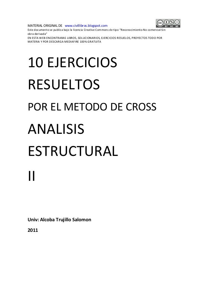 "MATERIAL ORIGINAL DE www.civillibros.blogspot.com  Este documento se publica bajo la licencia Creative Commons de tipo ""Re..."