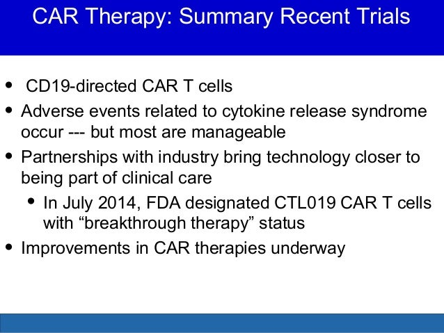Cellular Therapies In Acute Lymphocytic Leukemia