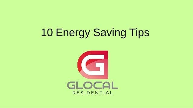 10 Energy Saving Tips