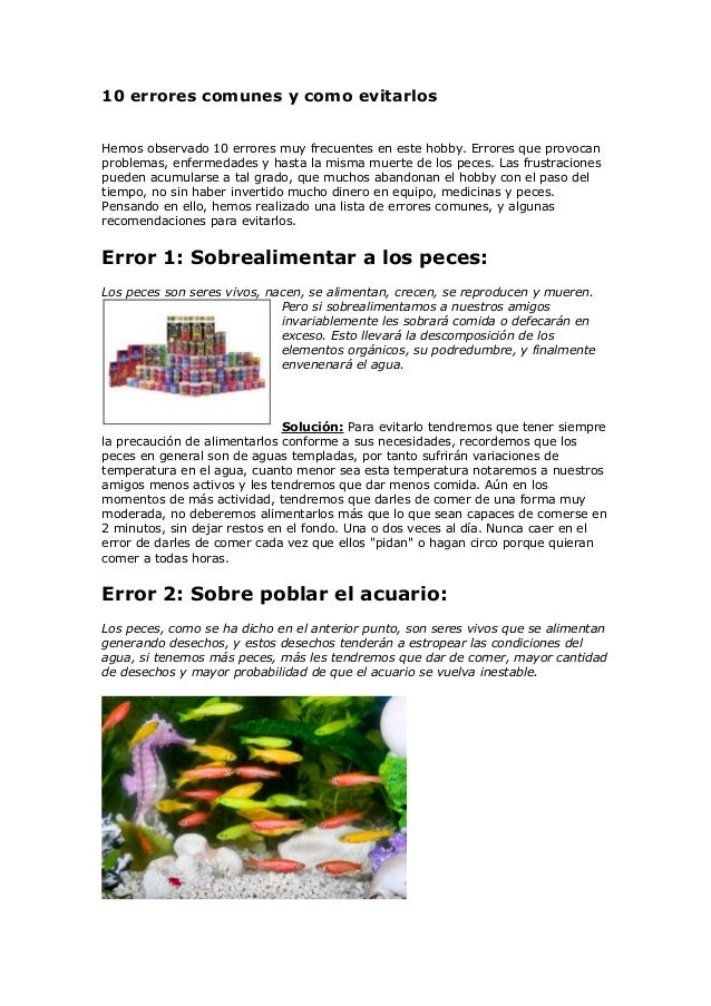 10 errores comunes y como evitarlos Hemos observado 10 errores muy frecuentes en este hobby. Errores que provocan problema...