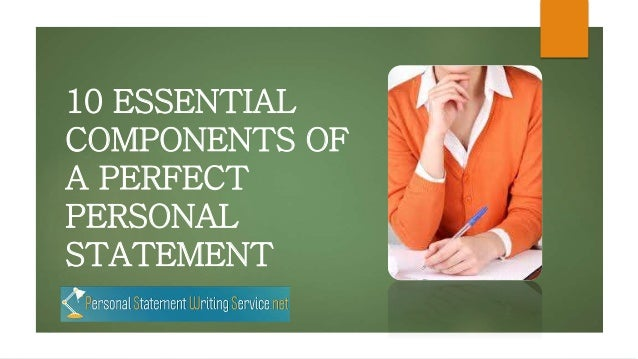The perfect personal statement