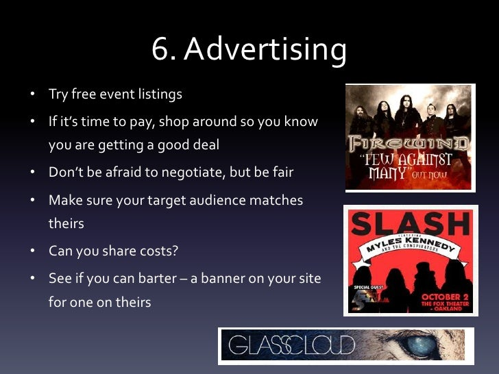 music promoter business plan
