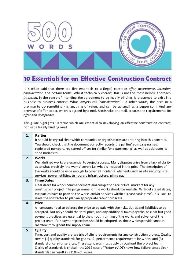 10 essentials for an effective construction contract 1 638gcb1432114022 10 essentials for an effective construction contract it is often said that there are five essentials thecheapjerseys Choice Image