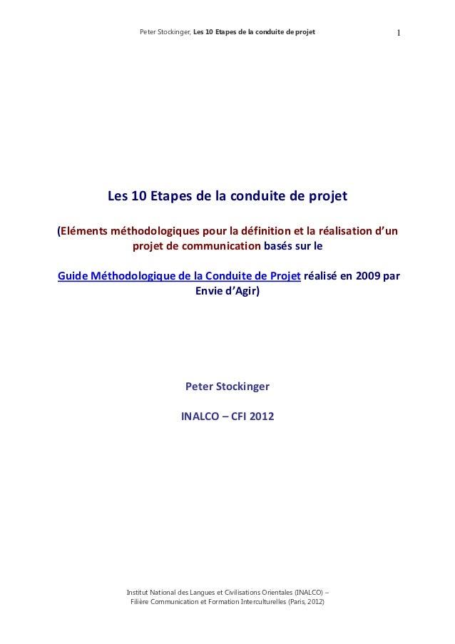 Peter Stockinger, Les 10 Etapes de la conduite de projet           1          Les10Etapesdelaconduitedeproj...