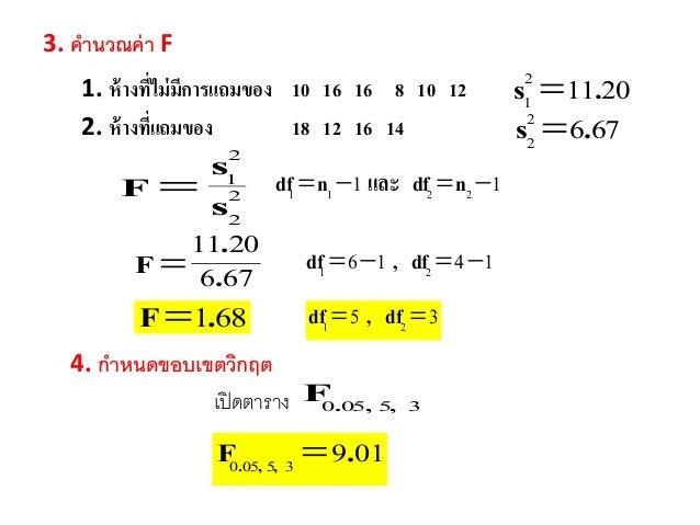 ตาราง f test