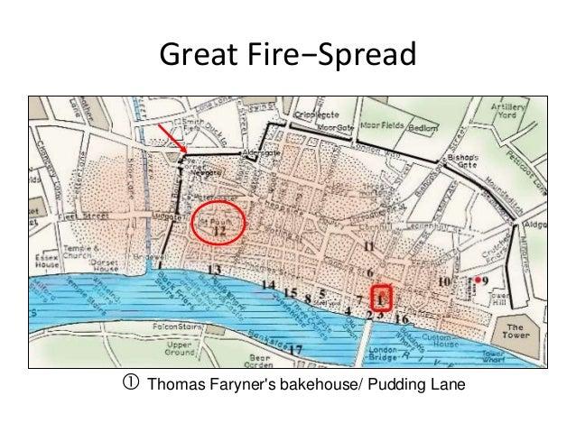 Great Fire Of London Map.10 F2015 Great London Fire 1666