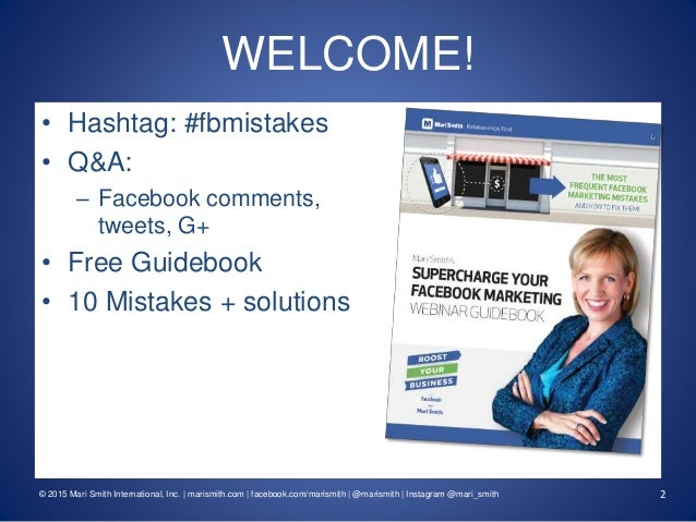 Supercharge Your Facebook Marketing! 10 Facebook Mistakes Businesses Are Making... And How To Fix Them #fbmistakes Slide 2
