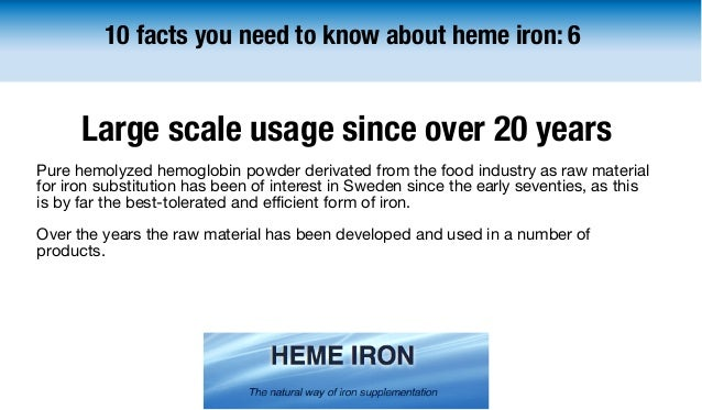 10 facts you need to know about heme iron