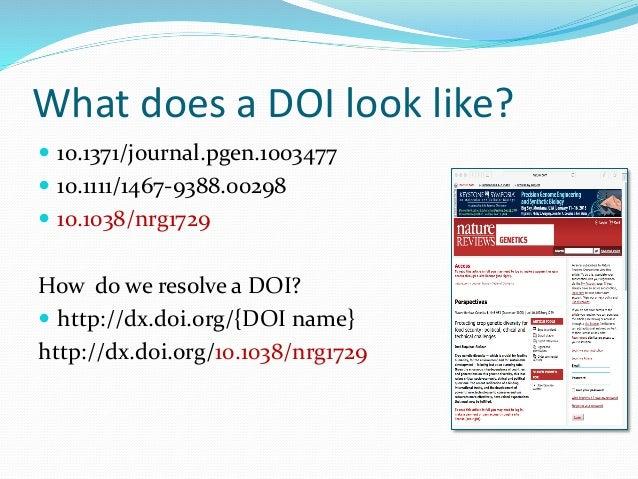 Digital Object Identifiers (DO...
