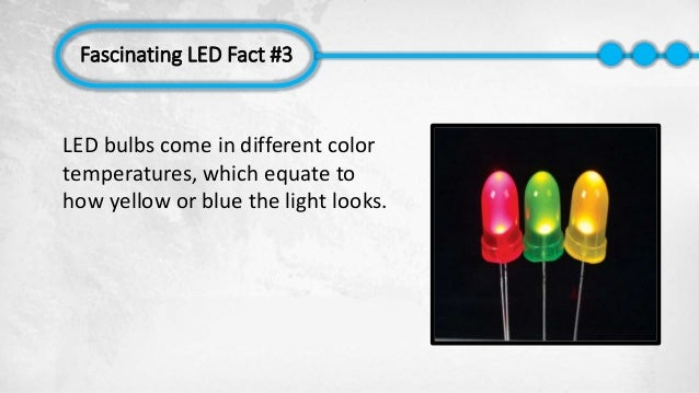 ... Fascinating LED Fact #3 LED Bulbs Come In Different Color Temperatures,  Which Equate To ...