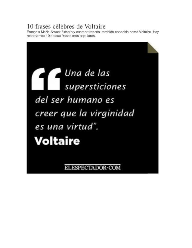 10 Frases Célebres De Voltaire