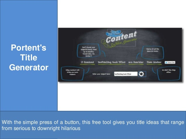 10 free digital marketing tool every small business owner for Portent title generator