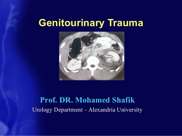 Genitourinary TraumaProf. DR. Mohamed ShafikProf. DR. Mohamed ShafikUrology Department – Alexandria University
