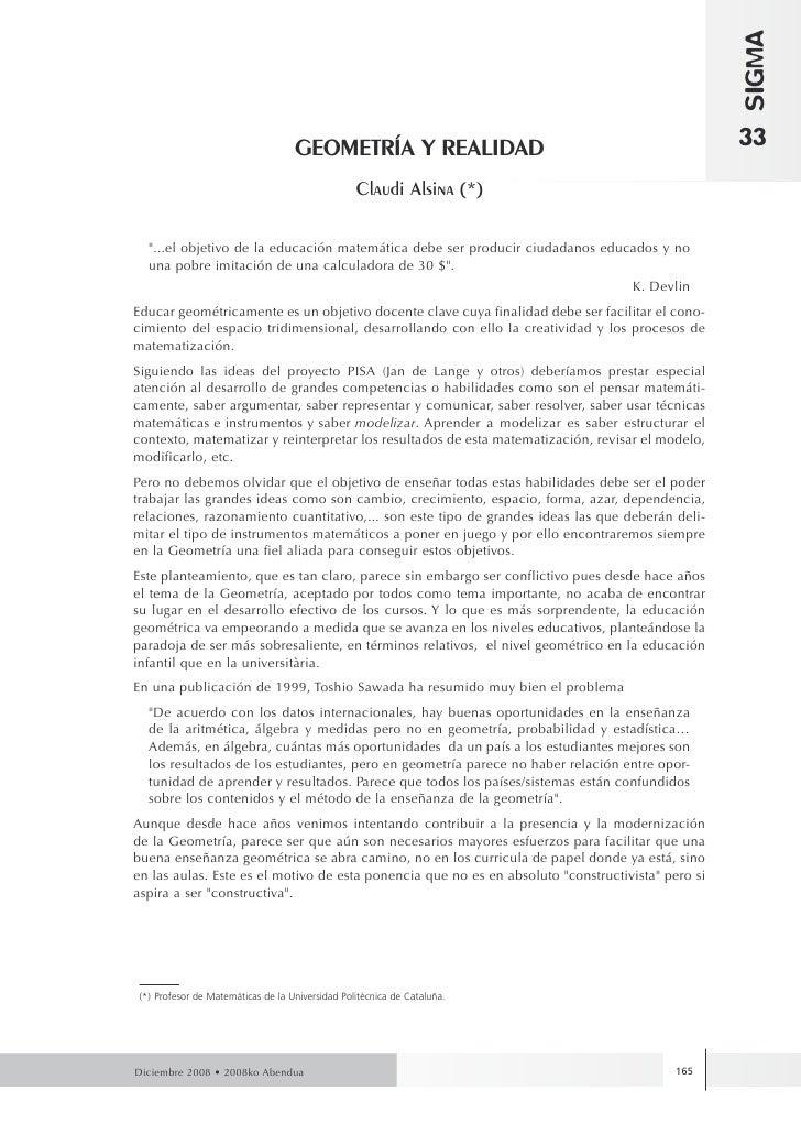 SIGMA                                    GEOMETRÍA Y REALIDAD                                            33               ...
