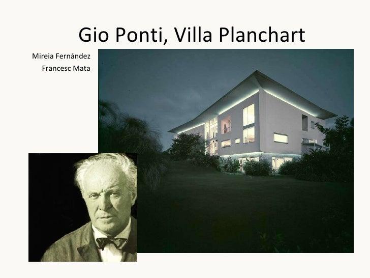 Gio Ponti, Villa Planchart Mireia Fernández Francesc Mata