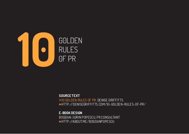 10 golden rules of PR