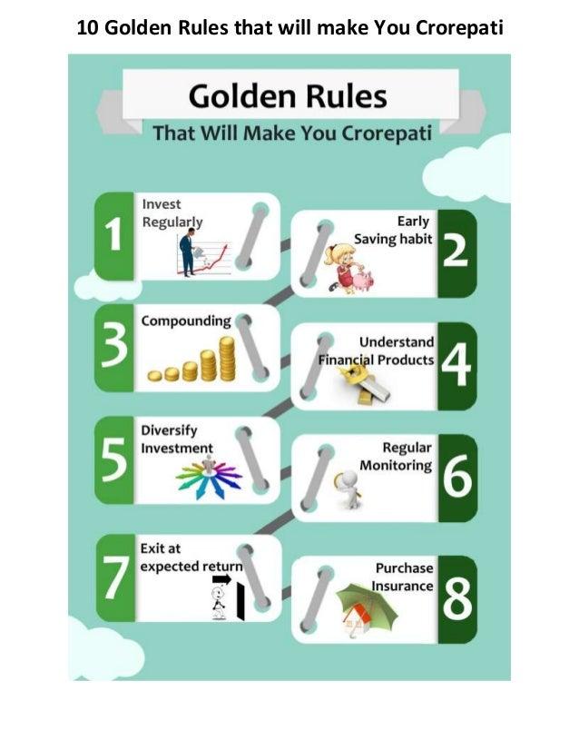 10 Golden Rules that will make You Crorepati