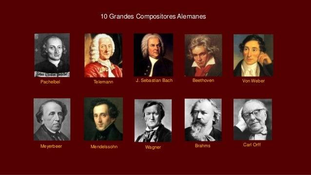 Meyerbeer Mendelssohn Wagner Brahms Carl Orff Pachelbel Telemann J. Sebastian Bach Beethoven Von Weber 10 Grandes Composit...