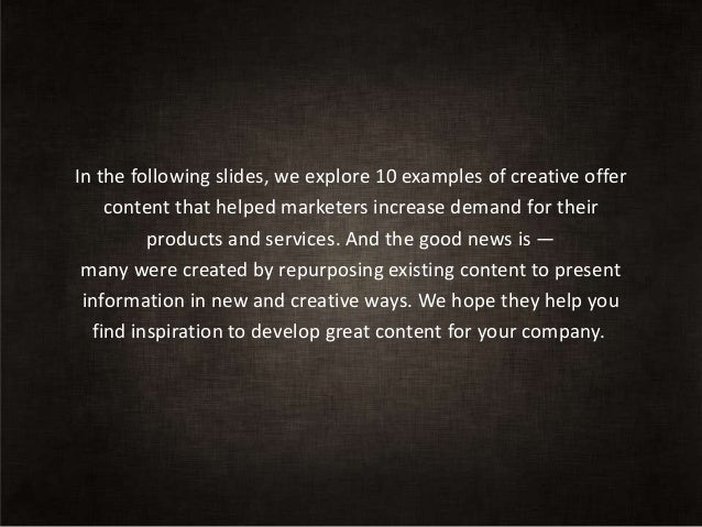 10 great examples of demand generation content Slide 3