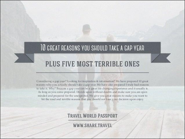 10 Great Reasons to Take a Gap Year Slide 2