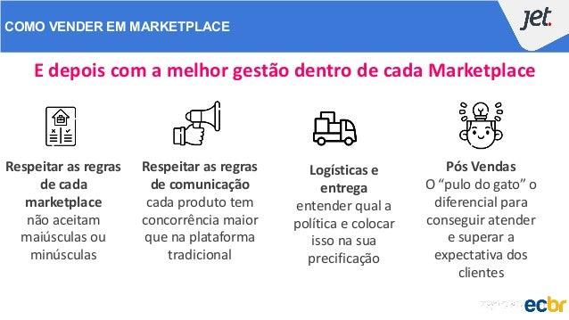 """COMO VENDER EM MARKETPLACE E depois com a melhor gestão dentro de cada Marketplace Pós Vendas O """"pulo do gato"""" o diferenci..."""