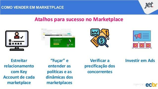 COMO VENDER EM MARKETPLACE Atalhos para sucesso no Marketplace Estreitar relacionamento com Key Account de cada marketplac...