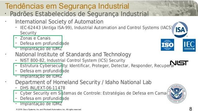 © 2016 Cisco Systems, Inc. and Rockwell Automation, Inc. All rights reserved Tendências em Segurança Industrial • Internat...