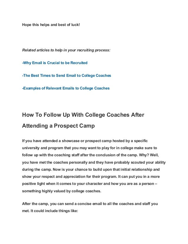 sample letters to college coaches