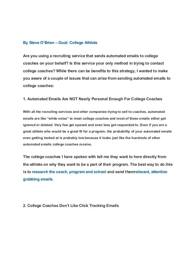 sample letter to college coaches for recruiting 10 helpful articles when writing emails to college coaches 24637 | 10 helpful articles when writing emails to college coaches 15 638
