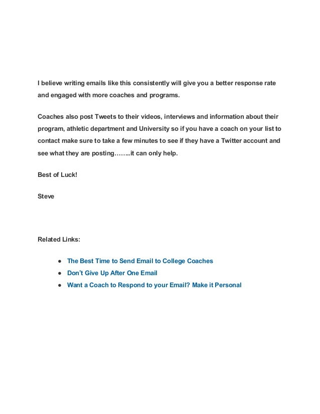 how to write an email to a college counselor