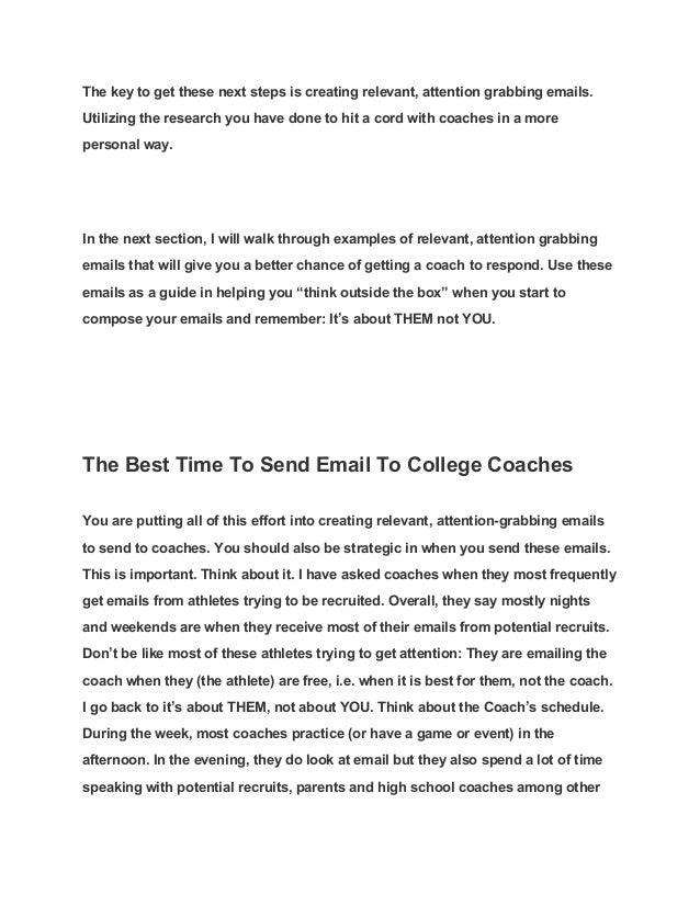 10 Helpful Articles When Writing Emails To College Coaches