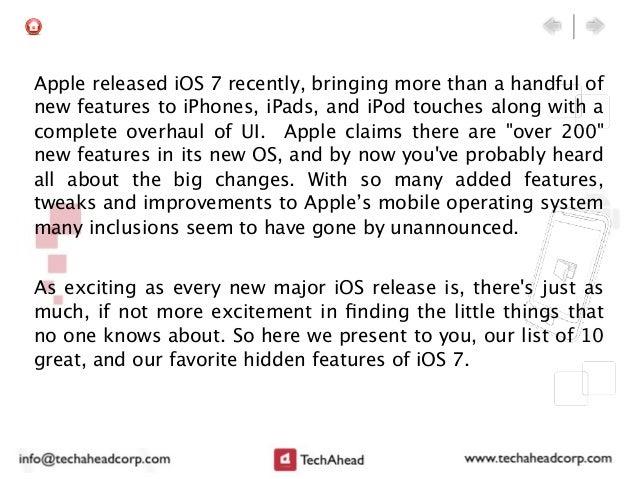 10 Hidden Features of iOS 7 Slide 2