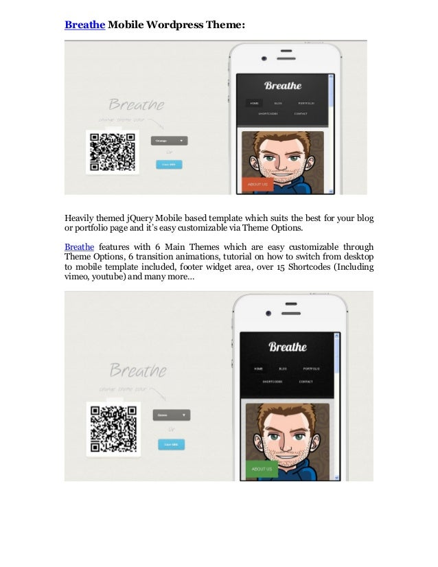 10 High Quality and Beautiful Mobile WordPress Theme - 웹
