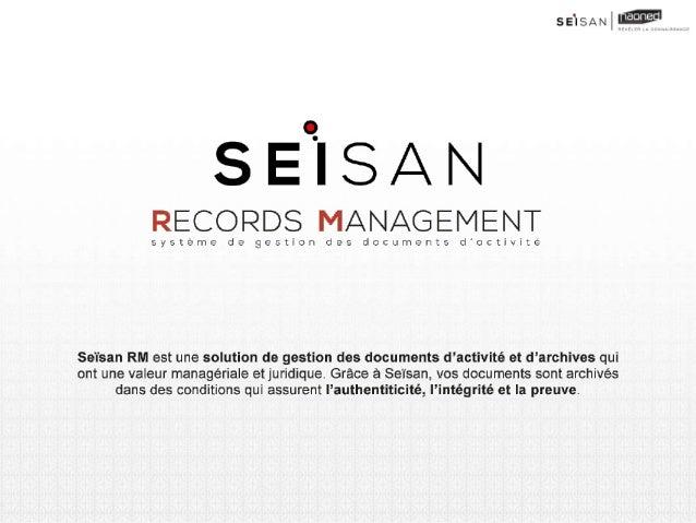 La solution Seïsan adresse la problématique des documents d'activités