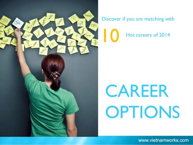 CAREER OPTIONS Discover if you are matching with 10 Hot careers of 2014