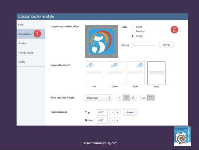 How To Customize Invoice In QuickBooks Online - Quickbooks invoice logo size