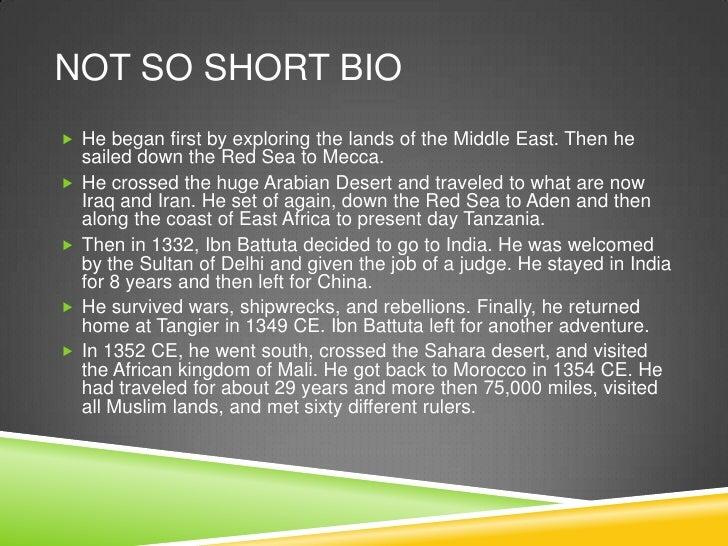 Ibn Battuta Classwork