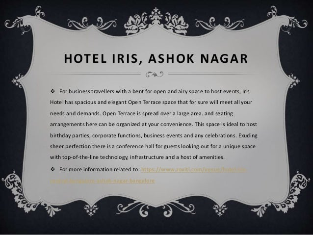 10 ideal venues in bangalore to host best