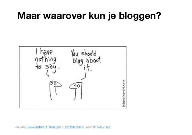 10 ideeën voor zakelijke bloggers (met voorbeelden) Slide 3